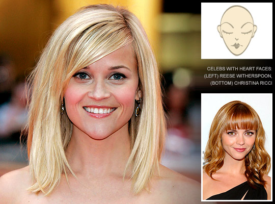 hair styles for heart shape face