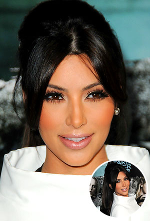 Kim Kardashian's retro ponytail with center part