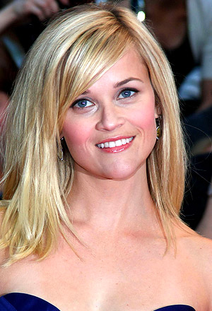Reese Witherspoon's straight lob with volume and swooped bangs