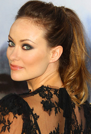 Olivia Wilde's off-the-face high ponytail