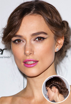 Keira Knightley's retro rolled updo