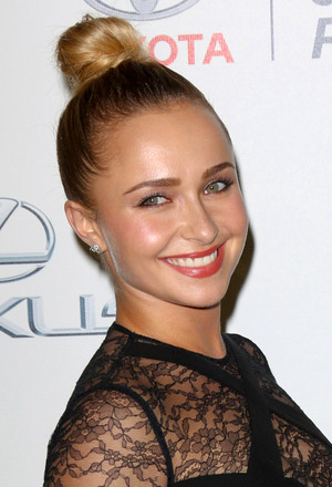 Hayden Panettiere's high top knot