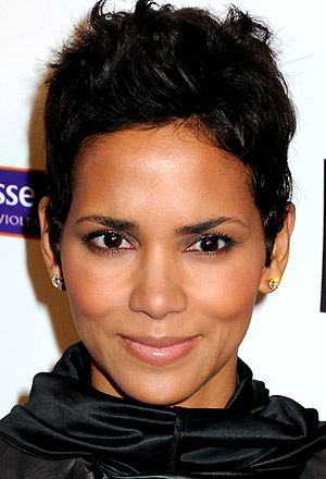 Halle Berry's tousled pixie cut